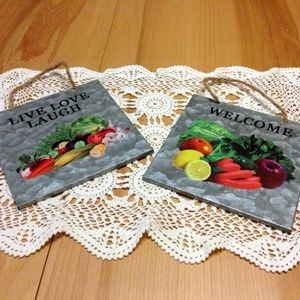 Lightweight kitchen hanging wall tin plaques